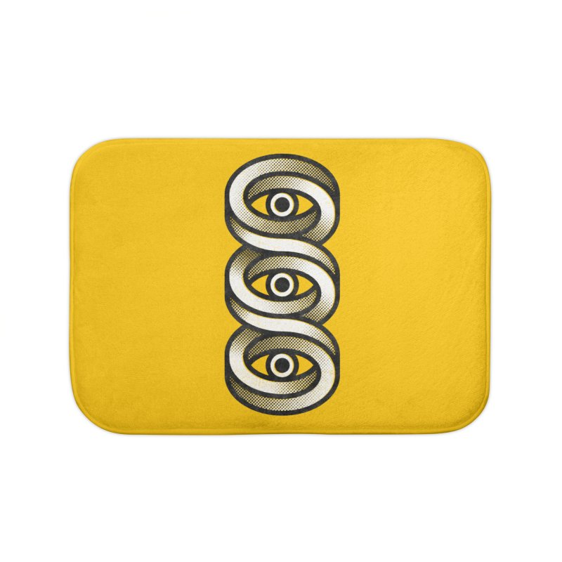 Eye Eye Eye Home Bath Mat by Quick Brown Fox