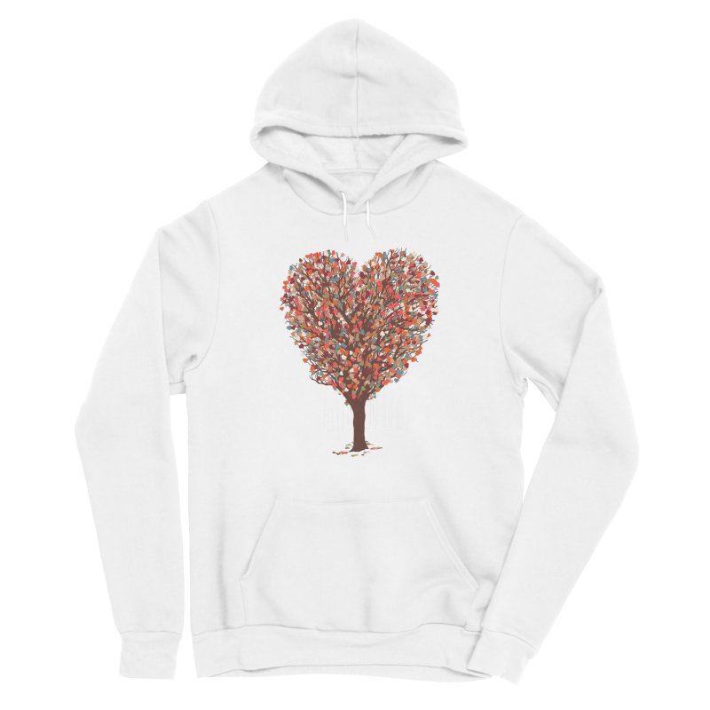 Tree Hug Women's Sponge Fleece Pullover Hoody by Quick Brown Fox