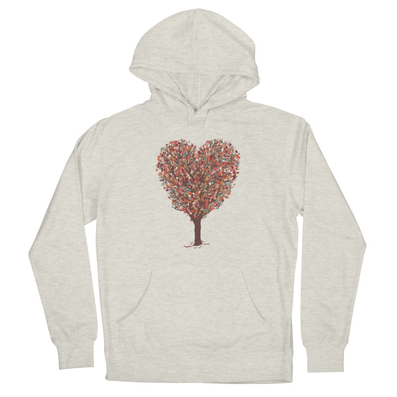 Tree Hug Men's French Terry Pullover Hoody by Quick Brown Fox