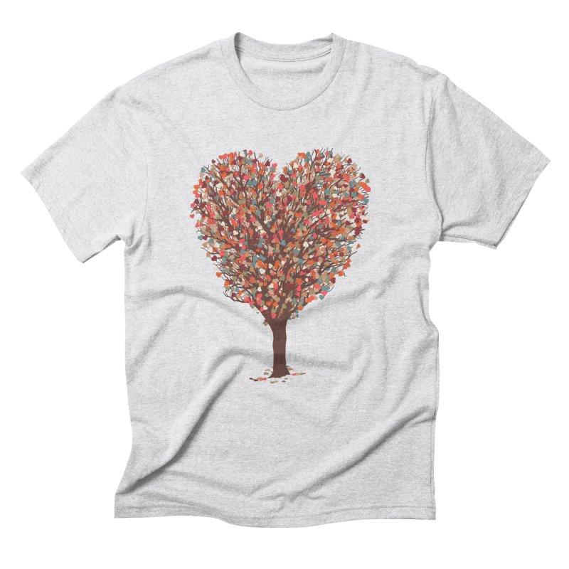 Tree Hug Men's Triblend T-Shirt by Quick Brown Fox
