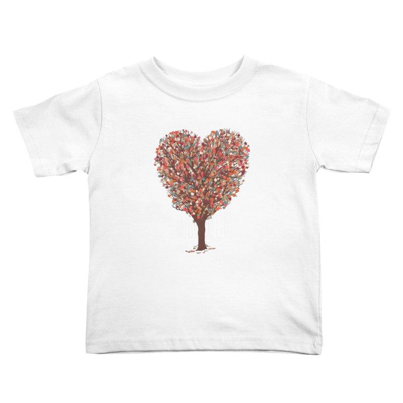 Tree Hug Kids Toddler T-Shirt by Quick Brown Fox