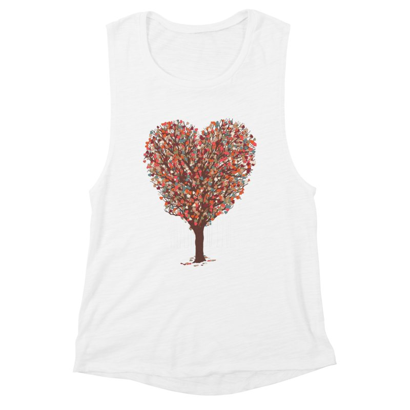 Tree Hug Women's Muscle Tank by Quick Brown Fox