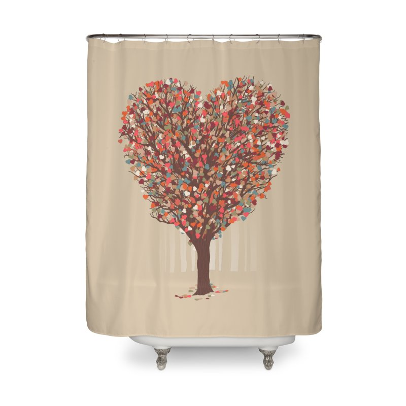 Tree Hug Home Shower Curtain by Quick Brown Fox