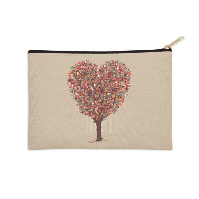Tree Hug Accessories Zip Pouch by Quick Brown Fox
