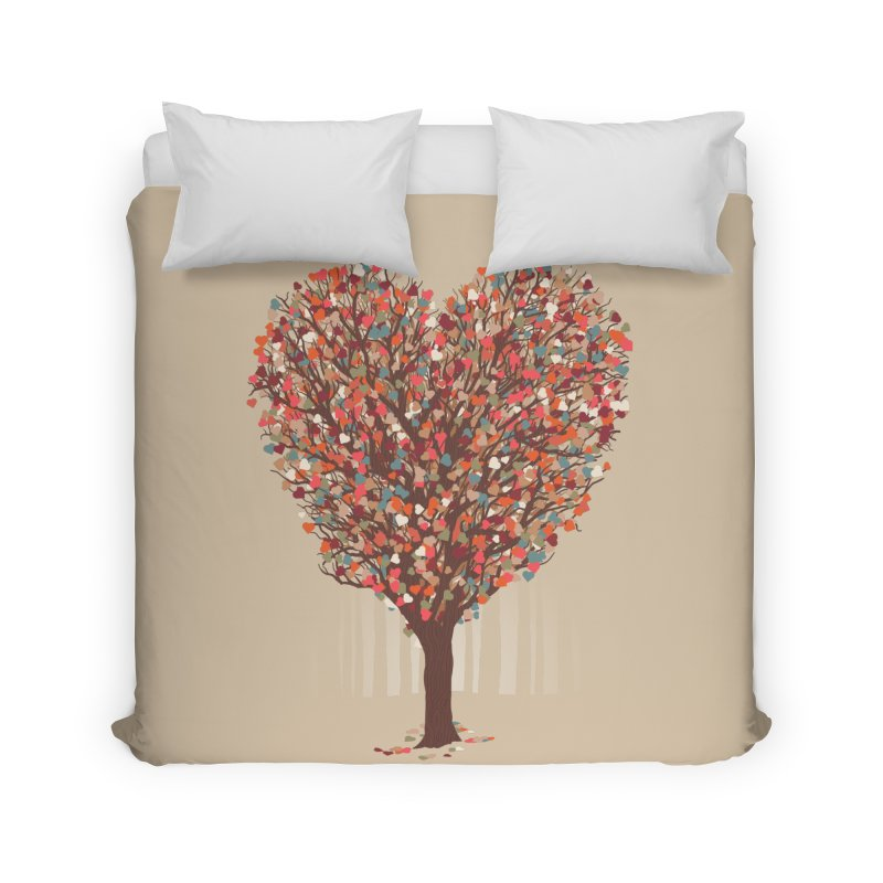 Tree Hug Home Duvet by Quick Brown Fox