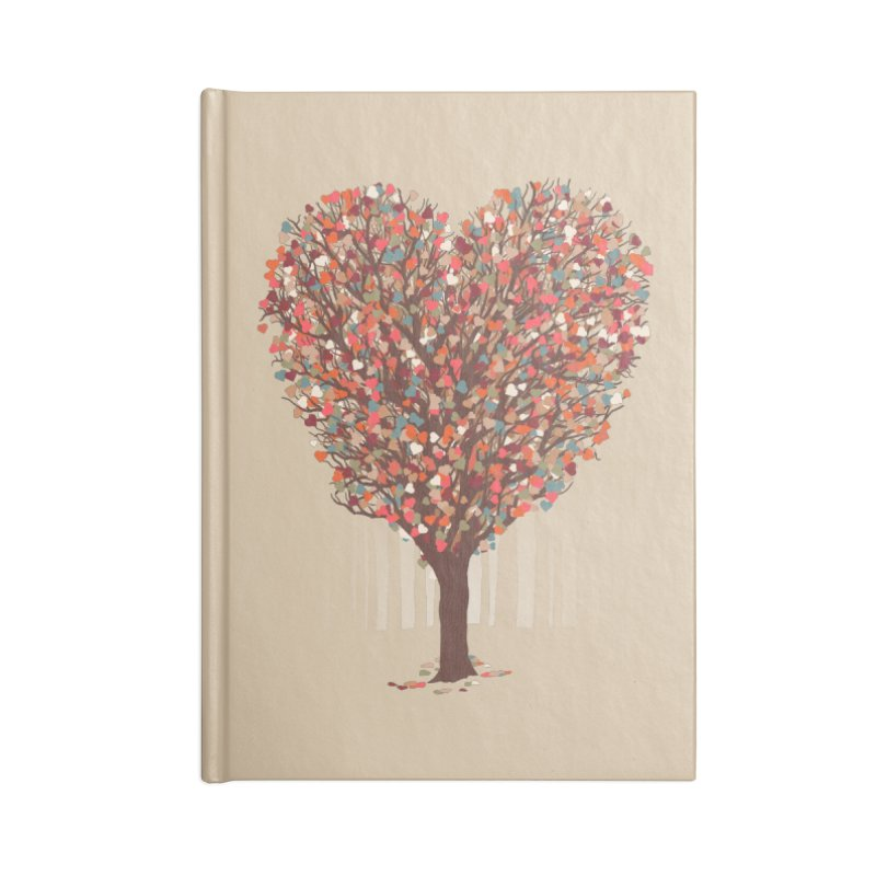 Tree Hug Accessories Blank Journal Notebook by Quick Brown Fox