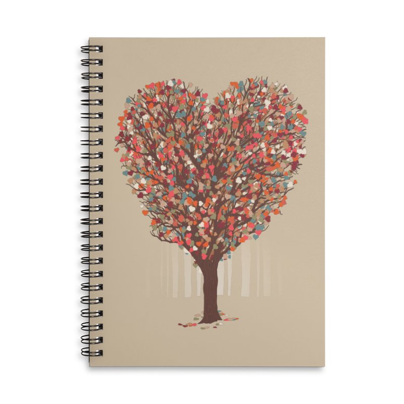 Tree Hug Accessories Lined Spiral Notebook by Quick Brown Fox