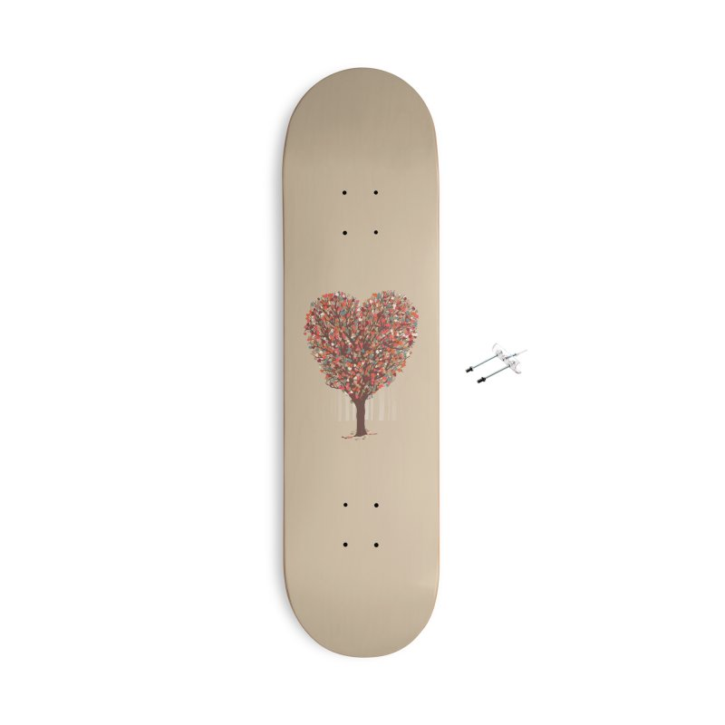 Tree Hug Accessories With Hanging Hardware Skateboard by Quick Brown Fox