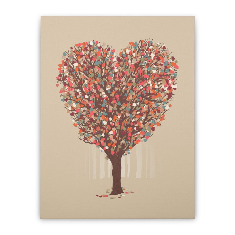 Tree Hug Home Stretched Canvas by Quick Brown Fox