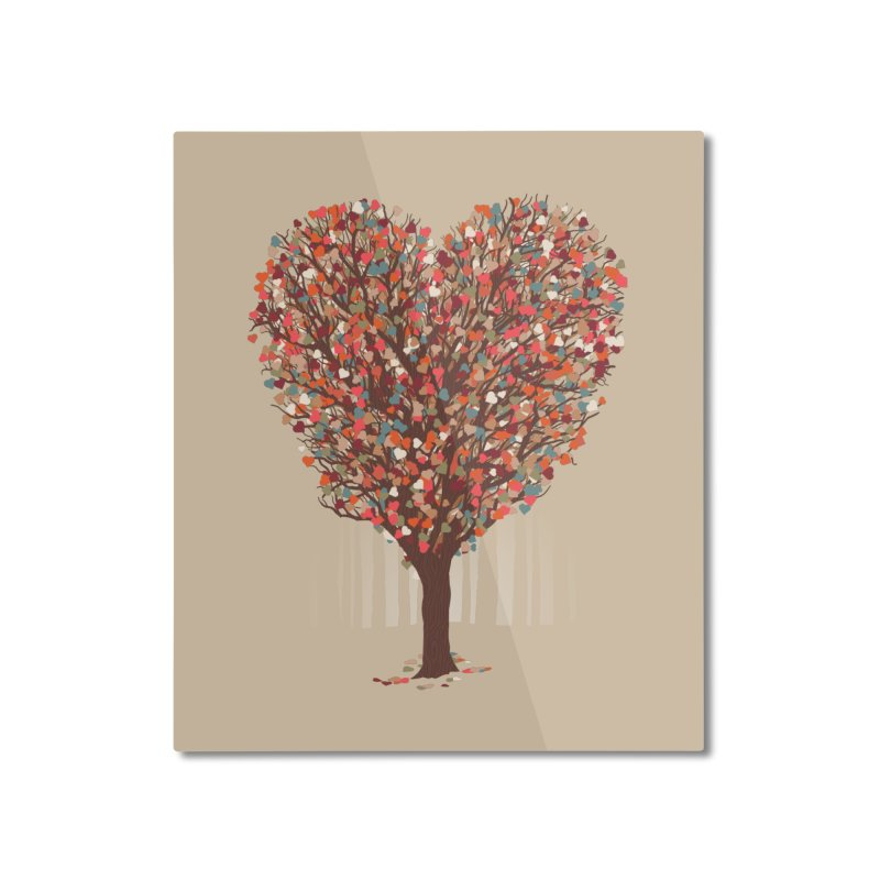 Tree Hug Home Mounted Aluminum Print by Quick Brown Fox