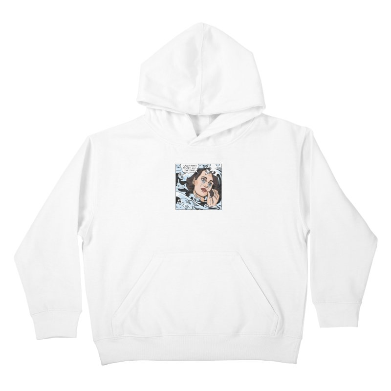 Drowning in Tears Kids Pullover Hoody by Quick Brown Fox