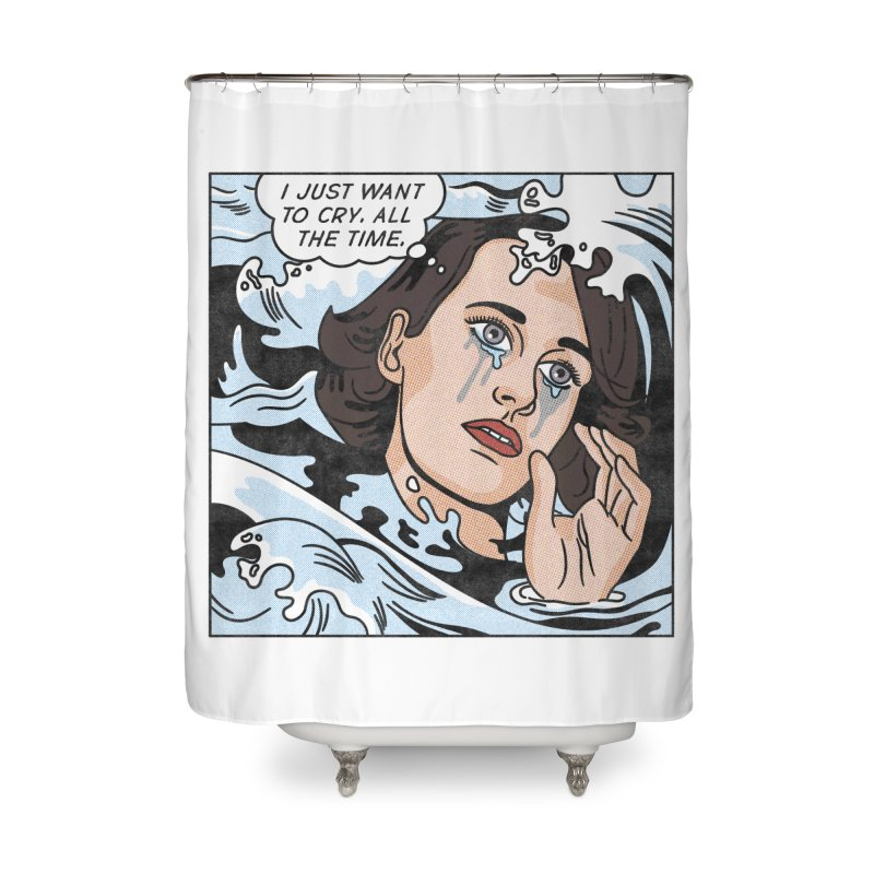 Drowning in Tears Home Shower Curtain by Quick Brown Fox