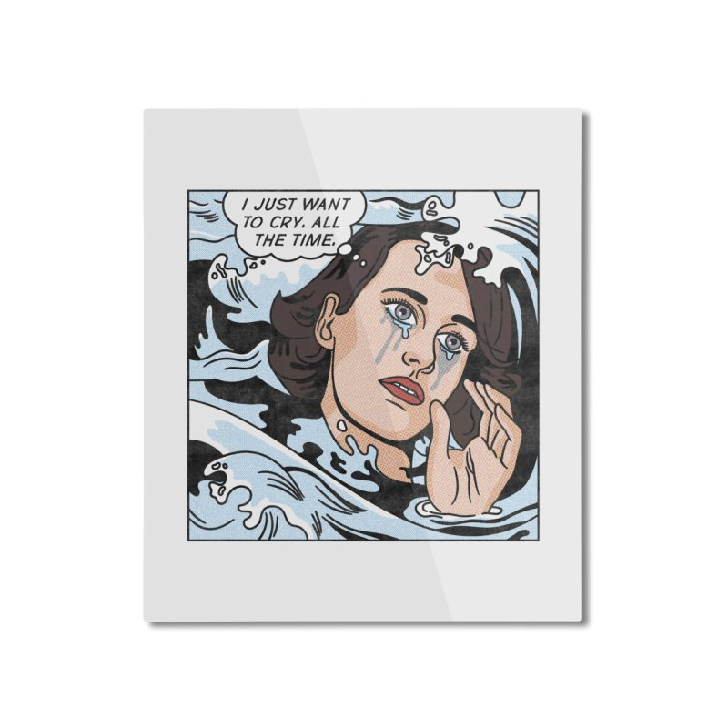 Drowning in Tears Home Mounted Aluminum Print by Quick Brown Fox