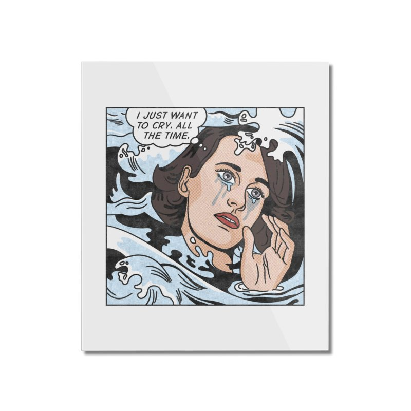 Drowning in Tears Home Mounted Acrylic Print by Quick Brown Fox