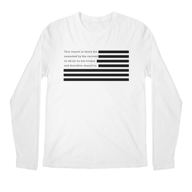 Redacted Men's Regular Longsleeve T-Shirt by Quick Brown Fox
