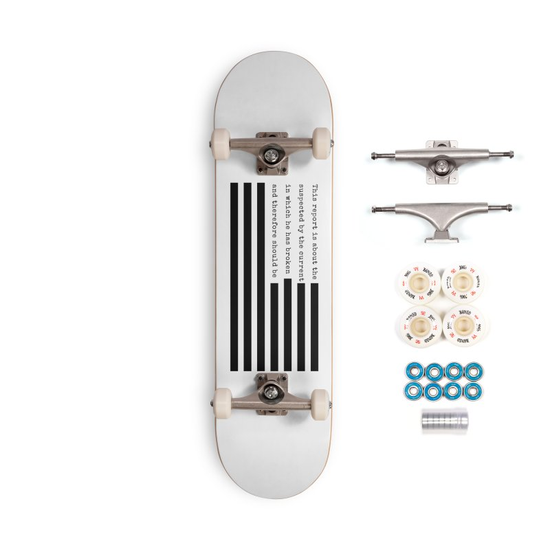 Redacted Accessories Complete - Premium Skateboard by Quick Brown Fox