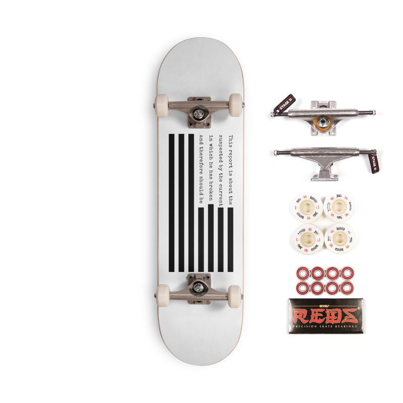 Redacted Accessories Skateboard by Quick Brown Fox