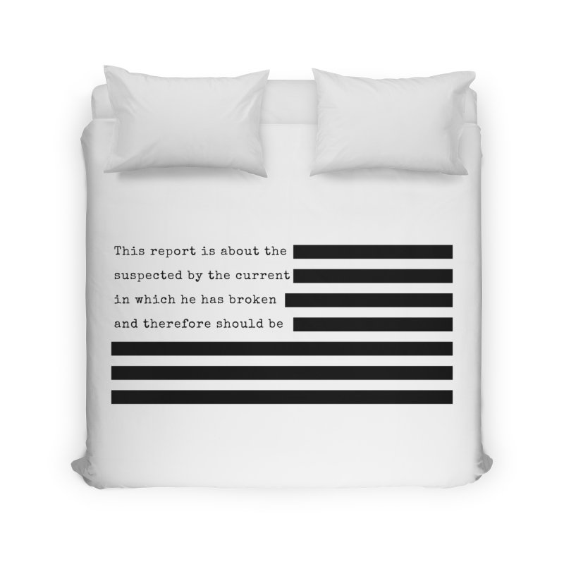 Redacted Home Duvet by Quick Brown Fox