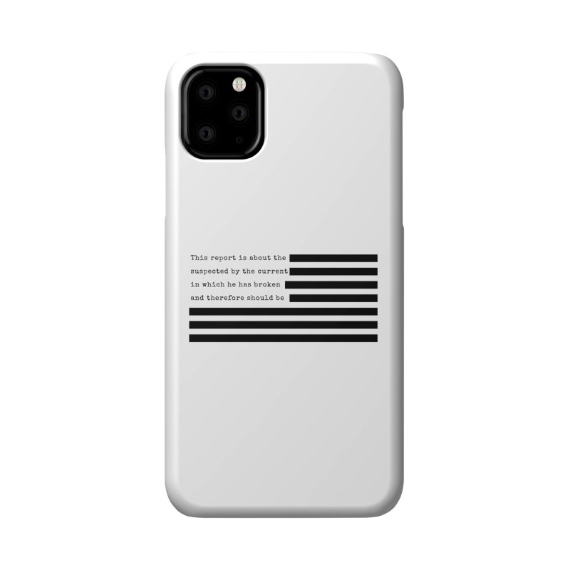 Redacted Accessories Phone Case by Quick Brown Fox