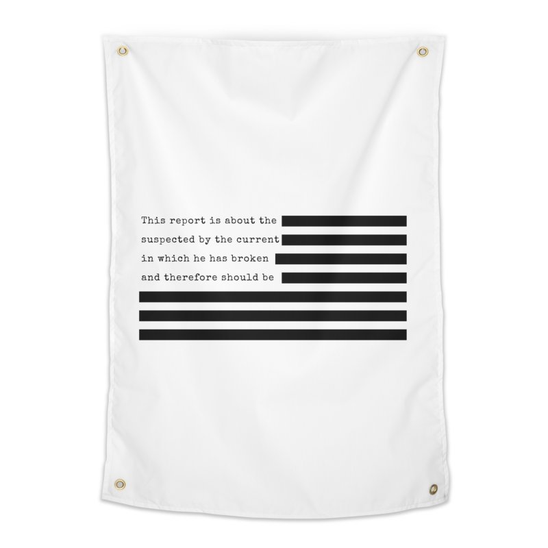 Redacted Home Tapestry by Quick Brown Fox