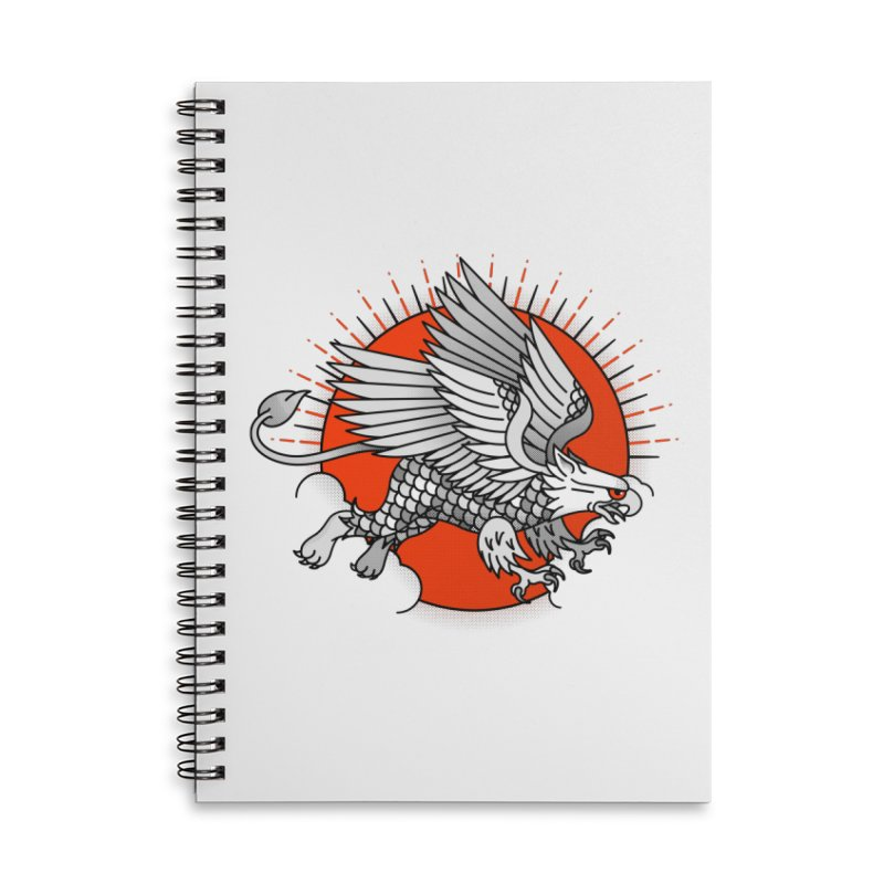 Fantastic Beast Accessories Lined Spiral Notebook by Quick Brown Fox