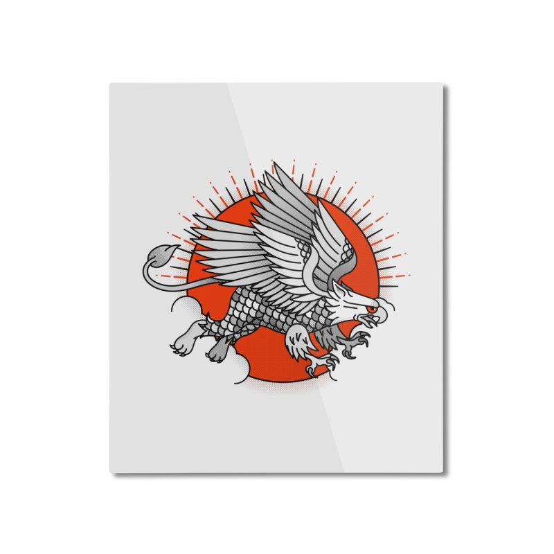 Fantastic Beast Home Mounted Aluminum Print by Quick Brown Fox