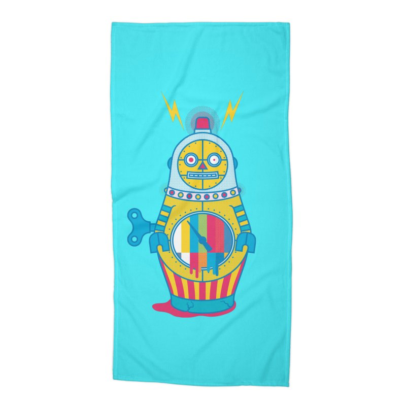 Does Not Compute Accessories Beach Towel by Quick Brown Fox