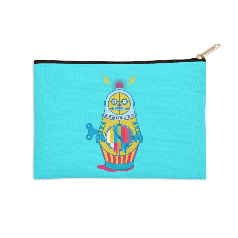 Does Not Compute Accessories Zip Pouch by Quick Brown Fox