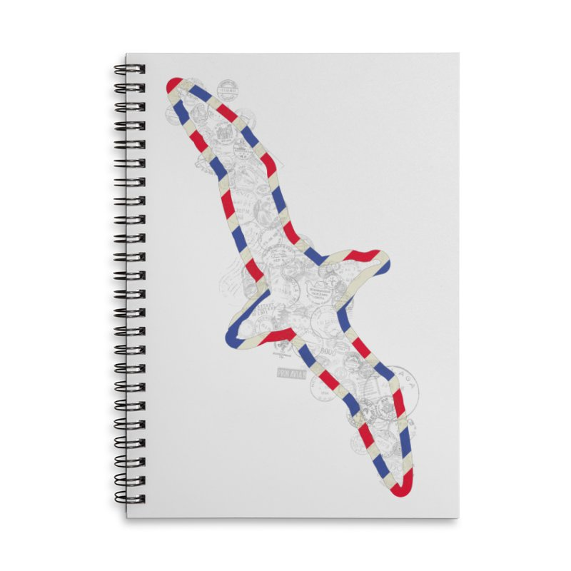 Wish You Were Here, There and Everywhere Accessories Lined Spiral Notebook by Quick Brown Fox