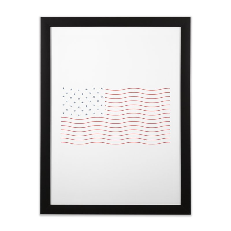 Americamalism Home Framed Fine Art Print by Quick Brown Fox