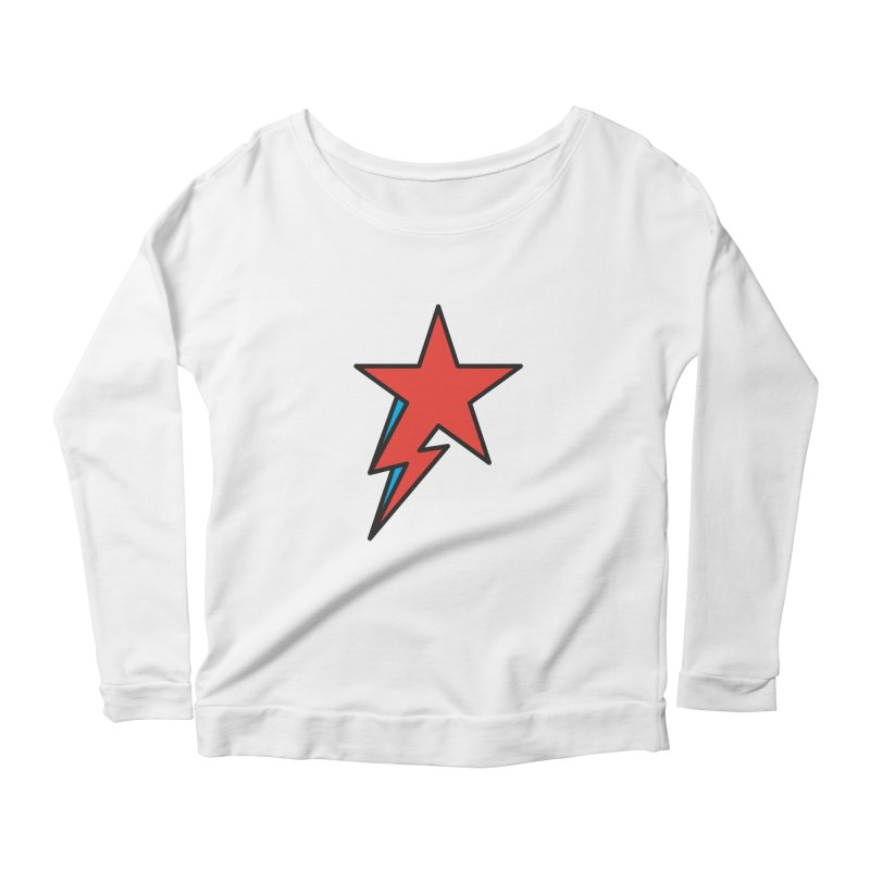 The Prettiest Star Women's Longsleeve Scoopneck  by Quick Brown Fox