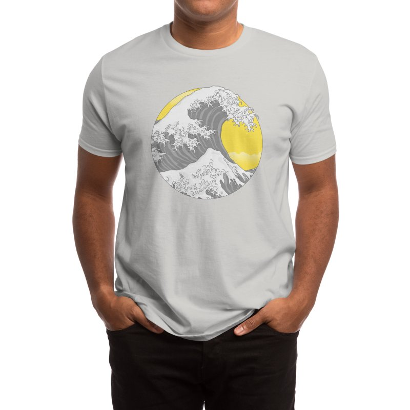 The Gray Wave Men's T-Shirt by Quick Brown Fox