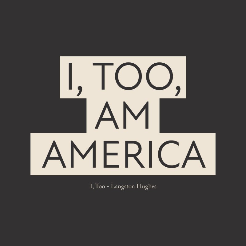 I Too Am America Men's T-Shirt by Quick Brown Fox