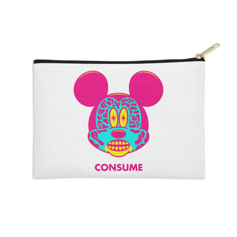 Consume Accessories Zip Pouch by Quick Brown Fox