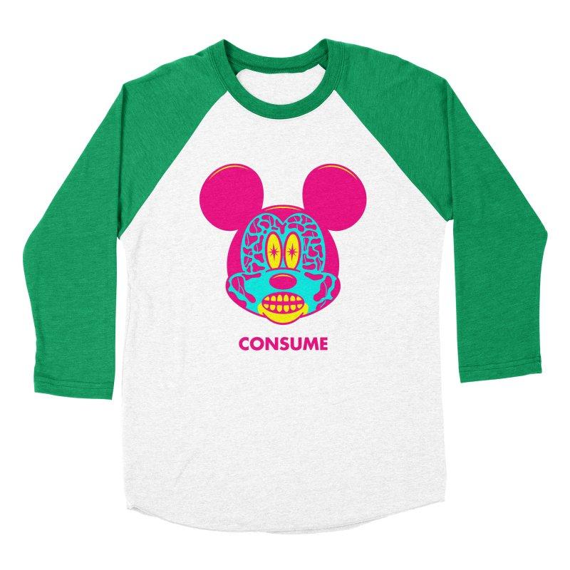 Consume Women's Baseball Triblend Longsleeve T-Shirt by Quick Brown Fox