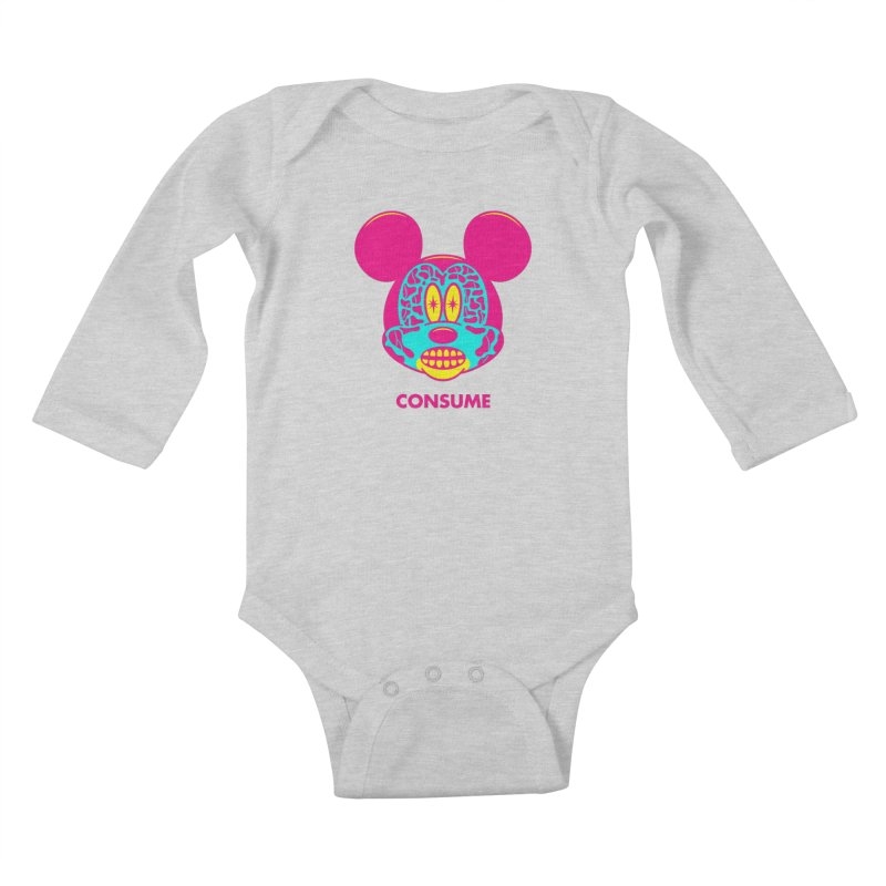 Consume Kids Baby Longsleeve Bodysuit by Quick Brown Fox