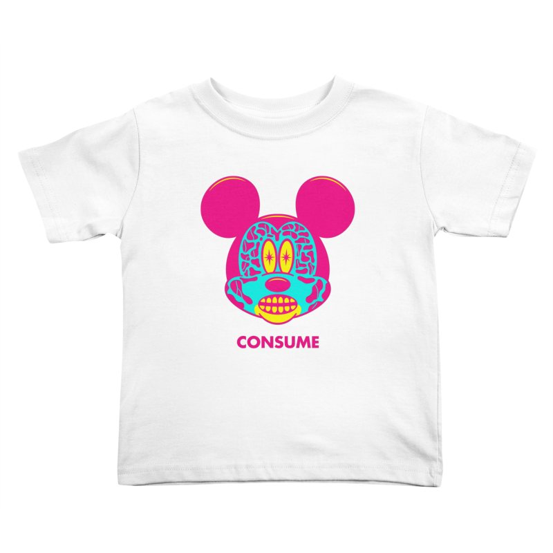 Consume Kids Toddler T-Shirt by Quick Brown Fox