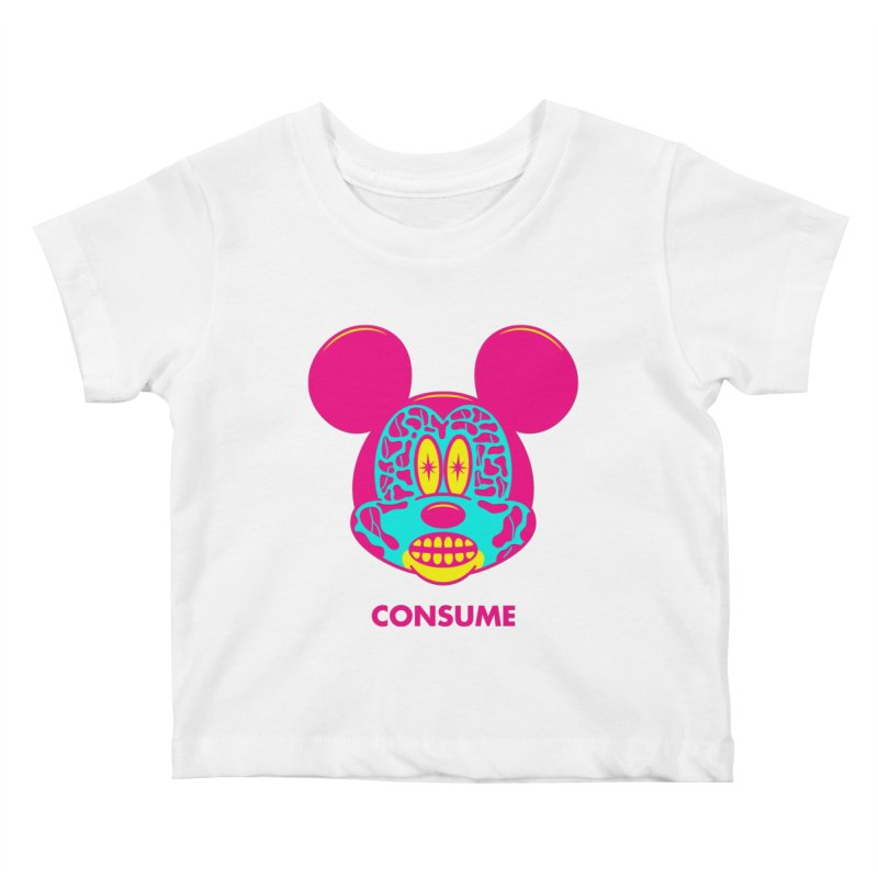 Consume Kids Baby T-Shirt by Quick Brown Fox