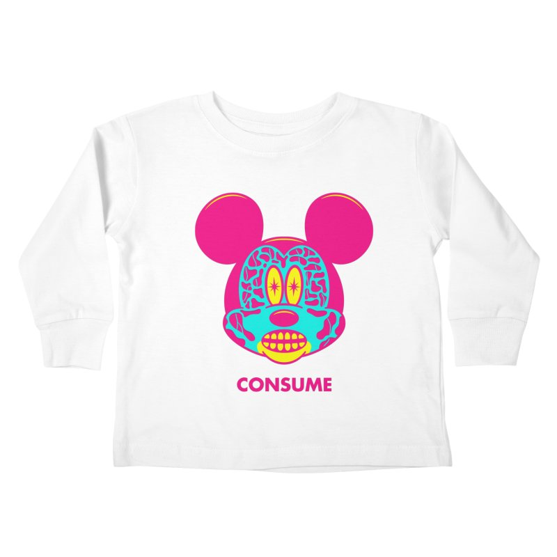 Consume Kids Toddler Longsleeve T-Shirt by Quick Brown Fox