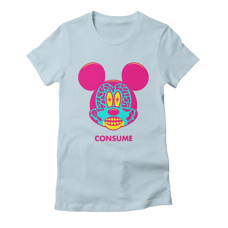 Consume Women's Fitted T-Shirt by Quick Brown Fox