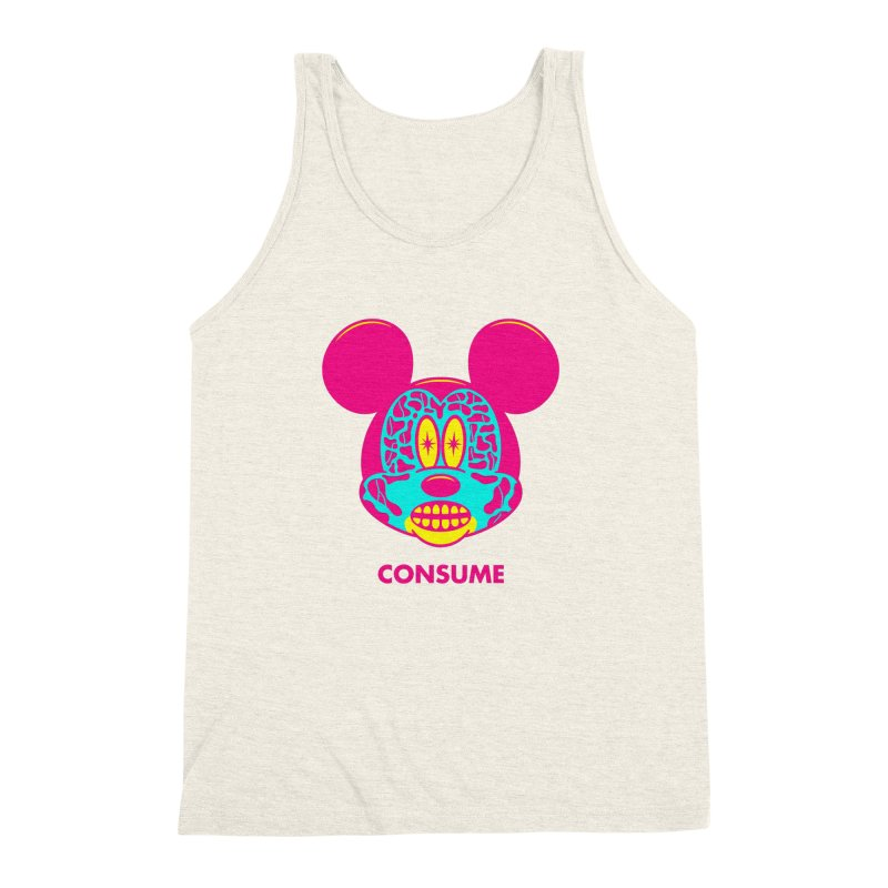 Consume Men's Triblend Tank by Quick Brown Fox