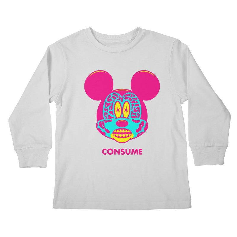 Consume Kids Longsleeve T-Shirt by Quick Brown Fox