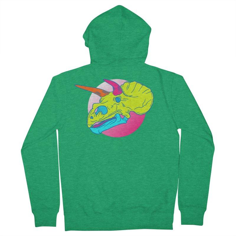 Radceratops Men's Zip-Up Hoody by Quick Brown Fox