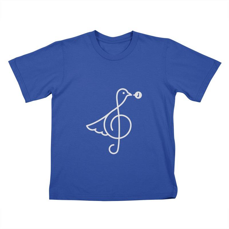 Bird Song Kids T-Shirt by Quick Brown Fox
