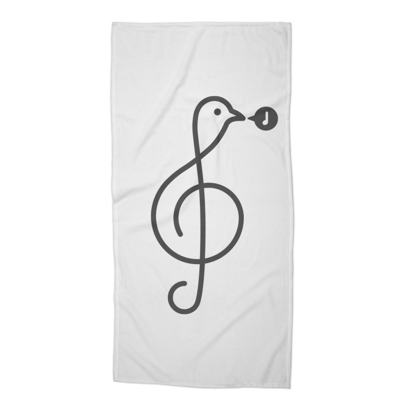 Song Bird Accessories Beach Towel by Quick Brown Fox