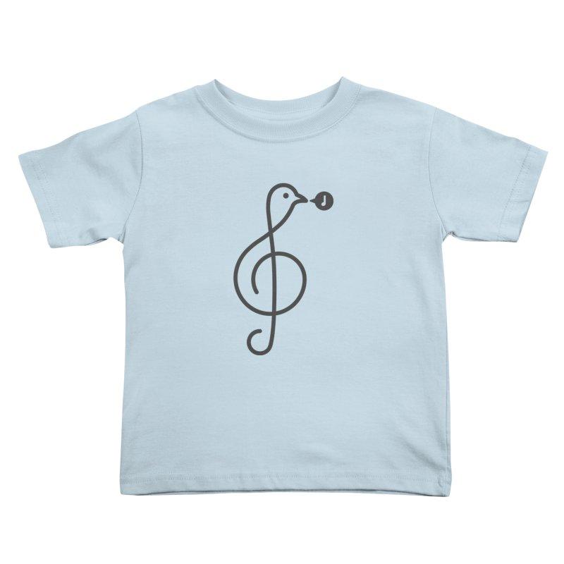 Song Bird Kids Toddler T-Shirt by Quick Brown Fox