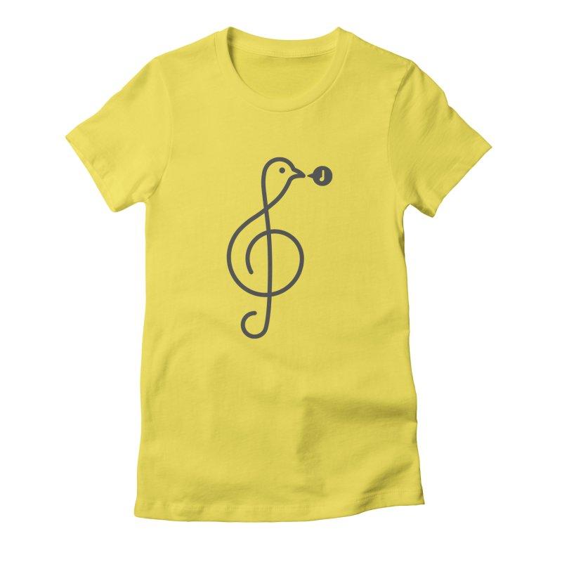 Song Bird Women's T-Shirt by Quick Brown Fox
