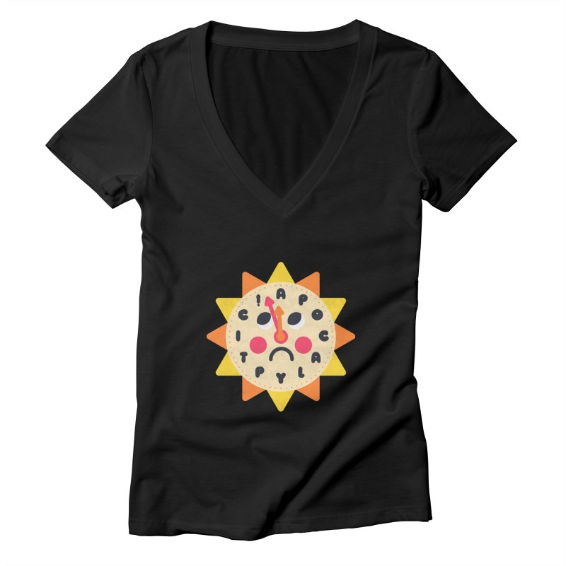 What's the Time Kids? Women's V-Neck by Quick Brown Fox