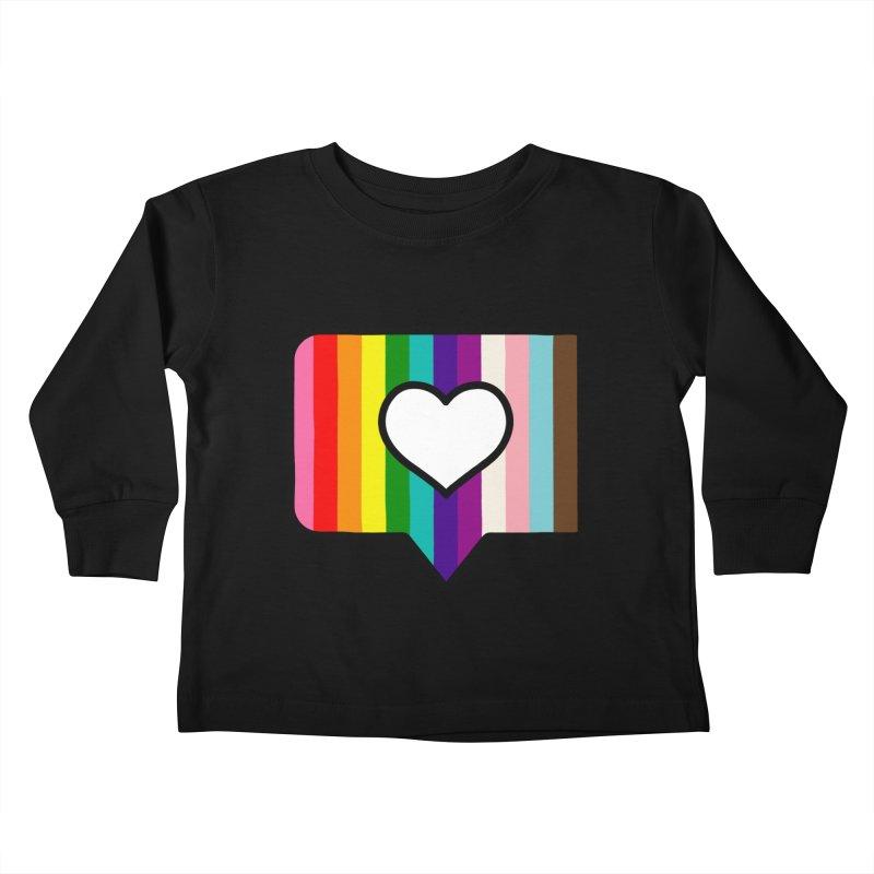 A Little Bit of Love Kids Toddler Longsleeve T-Shirt by Quick Brown Fox