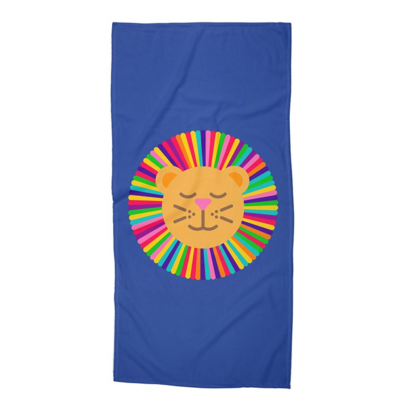 The Proudest Little Lion Accessories Beach Towel by Quick Brown Fox